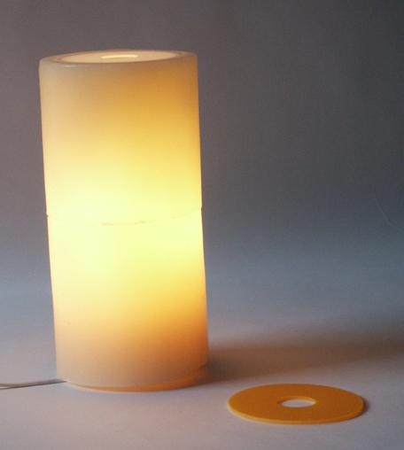 Wax floor lamp