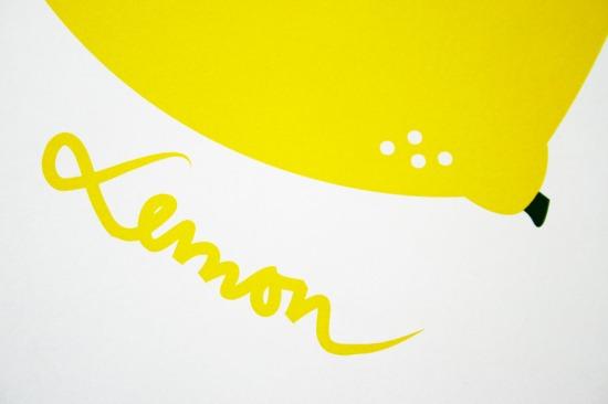 lemon text closeup