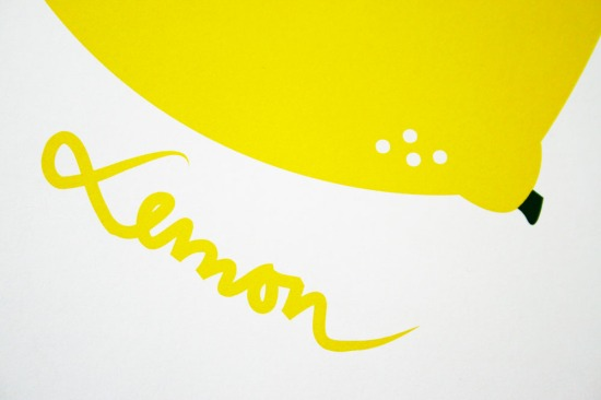 lemon text closeup